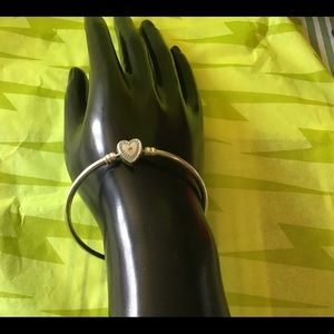"""Pandora """"Family Forever"""" bangle bracelet, 7.9"""" NEW"""